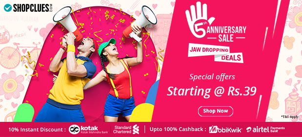 77ca68d554d Shopclues 5th Anniversary sale is live! Punch Paanch Ka